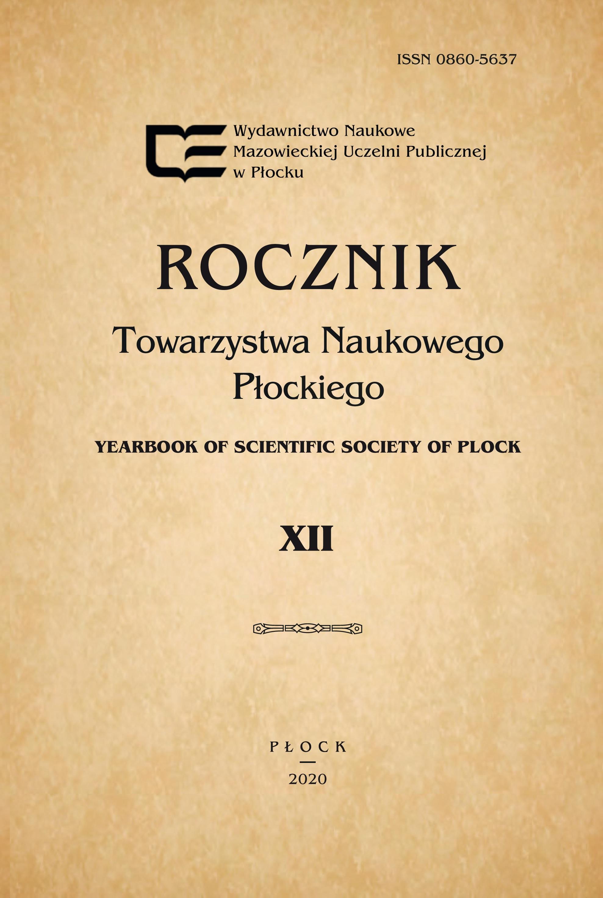 Wyświetl Tom 12 (2020): Rocznik Towarzystwa Naukowego Płockiego